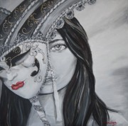 Lady Behind The Mask Print by Kanchan Mehendale