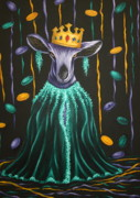 Mardi Gras Paintings - Lady Bell by Ruth Bares