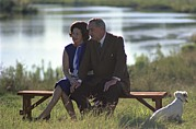 First Lady Acrylic Prints - Lady Bird And President Johnson Sit Acrylic Print by Everett