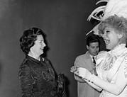 Lady Bird Johnson, Visiting Carol Print by Everett