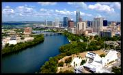 Austin Downtown Posters - Lady Bird Lake Austin Texas Poster by James Granberry