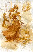 Beauty Paintings - Lady Bonney by Brian Kesinger