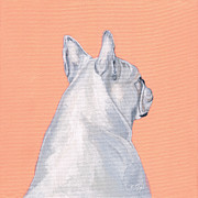 French Bulldog Paintings - Lady by Brian Ogi