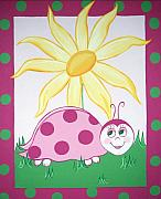 Childrens Art Drawings - Lady Bug by Valerie Chiasson-Carpenter