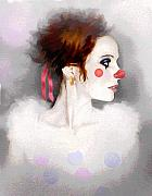 Girl Profile Prints - Lady Clown Print by Robert Foster
