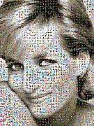 Photomosaic Prints - Lady D Print by Gilberto Viciedo