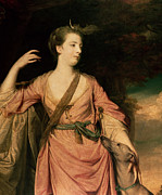 Reynolds Paintings - Lady Dawson by Sir Joshua Reynolds