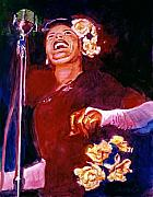 Singer Painting Metal Prints - Lady Day - Billie Holliday Metal Print by David Lloyd Glover