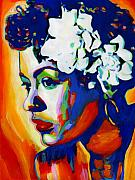 Singer Painting Metal Prints - Lady Day Metal Print by Vel Verrept