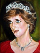 Lady Diana Framed Prints - Lady Diana 2 Framed Print by Hidemi