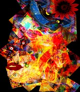 Visionary Artist Painting Prints - Lady Fashion Print by Fania Simon