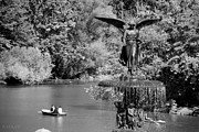 Streetscenes Photos - LADY FOUNTAIN of CENTRAL PARK iN BLACK AND WHITE by Rob Hans