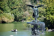 Streetscenes Photos - LADY FOUNTAIN of CENTRAL PARK by Rob Hans