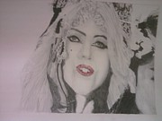 Lady Gaga Portraits Art - Lady Gaga - Judas by Kennan Lukacs