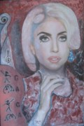 Lady Gaga Paintings - Lady Gaga - Outrageously talented  by Sam Shaker