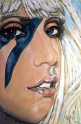 Lady Gaga Painting Prints - Lady Gaga 1 Print by Misty Smith