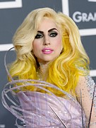 Head Piece Posters - Lady Gaga At Arrivals For 52nd Annual Poster by Everett