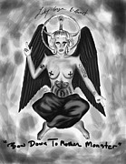 Kenal Louis Drawings Prints - Lady gaga Baphomet  Print by Kenal Louis