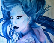 Lady Gaga Paintings - Lady Gaga Born this way by Robert Hodgson