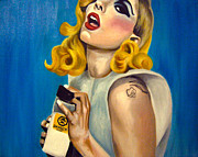 Fan Painting Metal Prints - Lady Gaga Commission Metal Print by Emily Jones