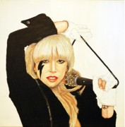 Lady Gaga Painting Posters - Lady Gaga Poster by Dean Manemann