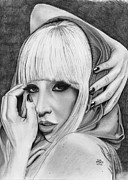 Lady Gaga Art - Lady Gaga by Gil Fong