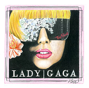 Lady Gaga Art - Lady Gaga by Justin Austin