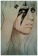 Lady Gaga Drawings Originals - Lady GaGa by Kipani Joi