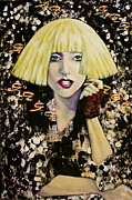 Lady Gaga Painting Posters - Lady Gaga Poster by Martha Bennett