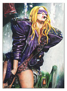 Lady Gaga Drawings Originals - Lady Gaga MonsterBall by Eric Witman