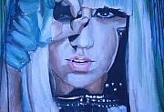 Decor Prints Paintings - Lady Gaga Portrait by Mikayla Henderson