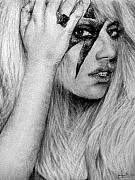 Lady Gaga Drawings Originals - Lady Gaga by Sean Leonard