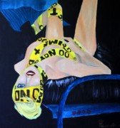Lady Gaga Painting Prints - Lady Gaga Telephone Print by Robert Hodgson