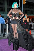 Ball Gown Metal Prints - Lady Gaga Wearing A Custom Mugler Metal Print by Everett
