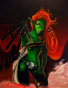 Machinery Painting Posters - Lady Goblin Poster by Felicia Rall