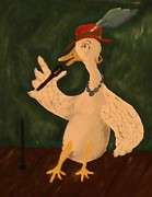 Geese Paintings - Lady Goose by Burma Brown
