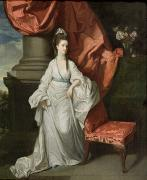 1733 Posters - Lady Grant - Wife of Sir James Grant Poster by Johann Zoffany