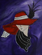 High Fashion Originals - Lady In A Red Hat by Leslie Allen