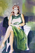 Richard Willows - Lady in green