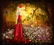 Mystical Prints - Lady in Red Print by Svetlana Sewell