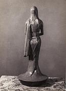 Feminine Sculptures - Lady in Saree 02 by Mohd Raza-ul Karim
