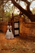 Aristocracy Photos - Lady in the Courtyard by Jill Battaglia