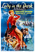 Newscanner Framed Prints - Lady In The Dark, Ginger Rogers, 1944 Framed Print by Everett