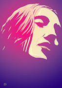 Portrait  Drawings Posters - Lady in the Light Poster by Giuseppe Cristiano