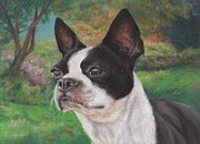 Terriers Pastels - Lady in the Park by Pamela Humbargar