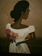 The Moment Painting Originals - Lady in Waiting by Felicia LaGrant