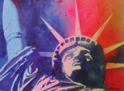 Liberty Paintings - Lady Liberty by Chuck Creasy