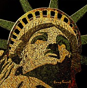 Mosaic Mixed Media - Lady Liberty by Doug Powell