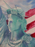 Liberty Paintings - Lady Liberty by Fran Richardson