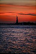 Cities Posters - Lady Liberty Poster by Lone  Dakota Photography